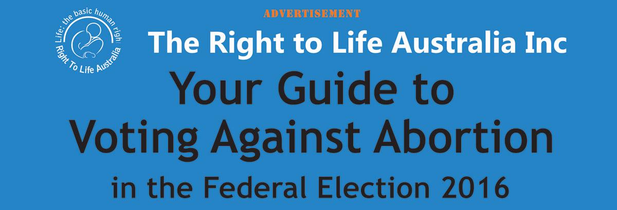 Federal Election 2016 banner