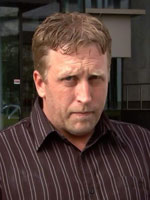 Mr Jamie Millard outside the ACT law courts.(ABC News)